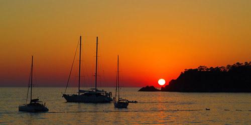 croisière pour observer le coucher du soleil à Fethiye